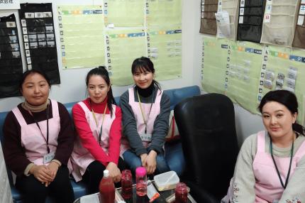 技能実習に向けてキルギスから来た学生