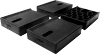 hmd-3020 エアコン室外機の脚に敷く騒音防止用ゴムマット