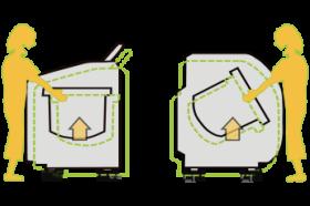 hmd-5500で高さを上げて洗濯物が取り出しやすくなったドラム式洗濯機・縦型洗濯機