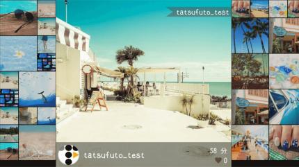 SNSサイネージ 横画面インスタウォールのコンテンツレイアウトイメージ