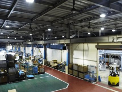 倉庫 LED導入事例