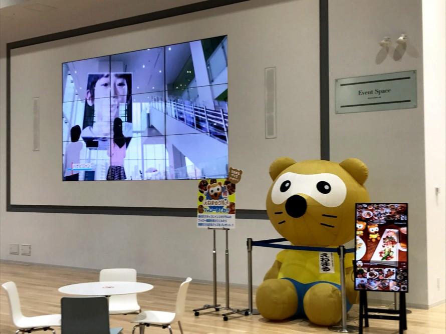 大阪ガス様ミュージアム内に設置しているSNSサイネージです