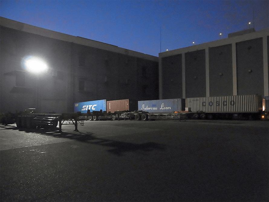 駐車場 LED照明 設置写真