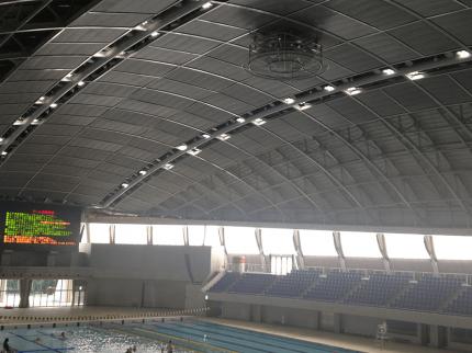 プール LED照明 設置写真