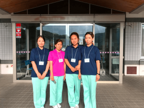 介護の技能実習に向けて就労体験を行うキルギスのインターン生