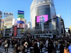 渋谷スクランブル交差点 サイネージ
