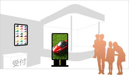SNSサイネージをイベント会場に設置した例