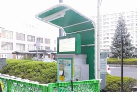 駐輪場での屋外用デジタルサイネージ導入事例