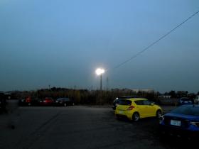 屋外駐車場 LED照明 設置写真