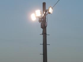 屋外 LED照明 設置写真
