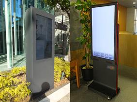 デジタルサイネージ用コンテンツ 屋内用・屋外用デジタルサイネージ設置事例